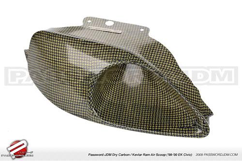 Password JDM Dry Carbon Kevlar Ram Air Lufthutze Rechte