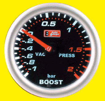 AG Boost Gauge - 52mm(2 inch) in Smoke Design