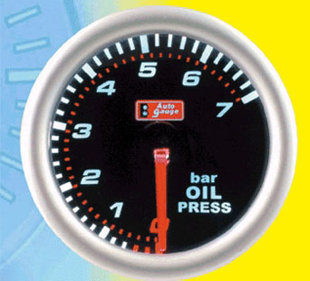 AG Oil Pressure Gauge - 52mm(2 inch) in Smoke Design
