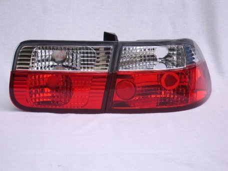 Taillights Red/White Crystal - Civic 92-95 (Coupe/Sedan)
