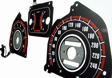 EL Glow Gauge White/Red - CRX 88-91