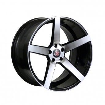 AXE Wheels - EX18 Gloss Black / Silver Polished Face (18 Zoll)