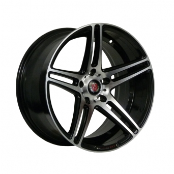 AXE Wheels - EX12 Black Machined Face (18 Zoll)