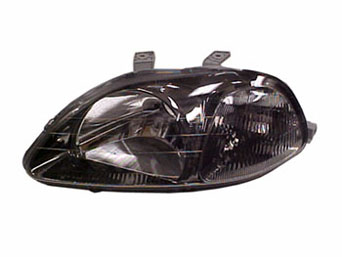 Headlights JDM Black with blinker - Civic 96-99 *E-Approval*