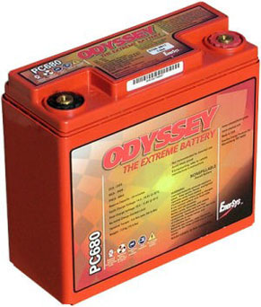 Odyssey PC680 - Drycell Racing Battery Metal Jacket
