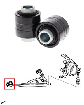 Hardrace Lower Control Arm Bushings Front With Pillow Ball - Honda S2000