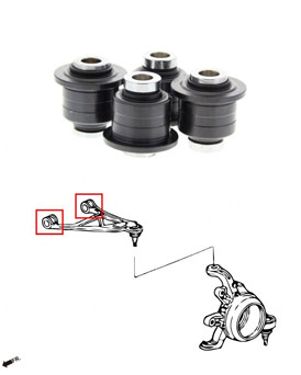 Hardrace Rear Upper Control Arm Bushings With Pillow Ball - Honda S2000