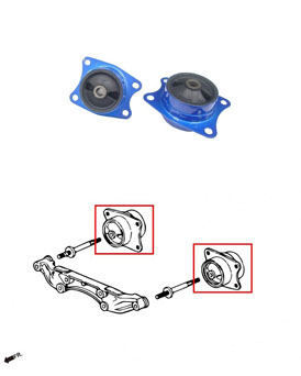 Hardrace Replacement Differential Mount Kit - Honda S2000