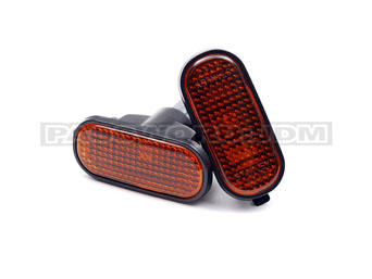 PSW JDM Seitenblinker flach smoke orange - CRX 88-97 / Civic 88-95 / Integra / S2000