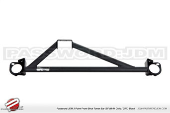 Password JDM Aluminium Domstrebe 3-P vorne BL - Civic/CRX 88-91