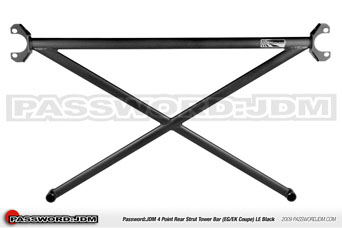 Password JDM Aluminium Strutbar 4-point (rear) BL - Integra Type-R