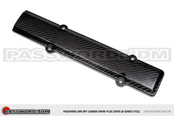 Password JDM Dry Carbon Spark Plug Cover - Honda B-Series engine