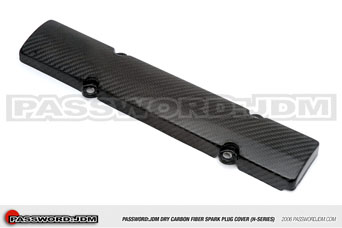 Password JDM Dry Carbon Spark Plug Cover - Honda H-Series engine