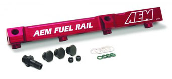 AEM high flow fuel rail - CRX 90-91 VTEC
