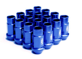 BLOX Forged Aluminium Lug Nuts BLUE - M12x1.25 Set of 20pcs