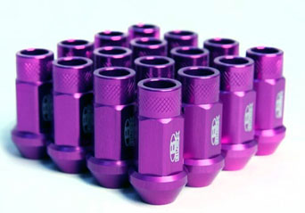 BLOX Forged Aluminium Lug Nuts PURPLE - M12x1.25 Set of 20pcs