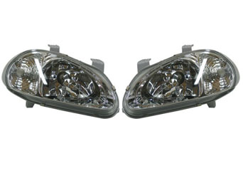 Headlights JDM chrome with blinker - Honda CRX del Sol 92-97
