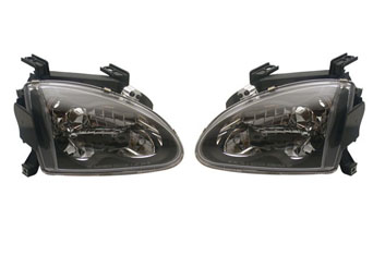 Headlights JDM Black - Honda CRX del Sol 92-97