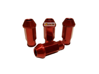 US-Racing Aluminium Lug Nuts - Acorn Seat Red