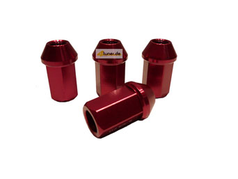 US-Racing Aluminium Lug Nuts Typ II - Acorn Seat Red