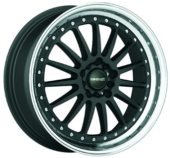 Tenzo-R Wheels - Turismo Black Matte Machined (15/17/18 inch)